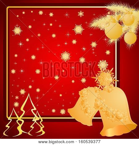 Abstract Christmas red background. The illustration on a red background.