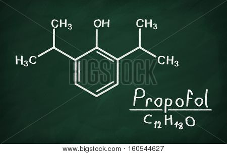 Structural Model Of Propofol