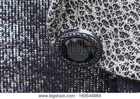 Button Sewn To The Garment, Beautiful Jacquard