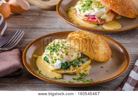 Egg Benedict With Hollandaise Sauce