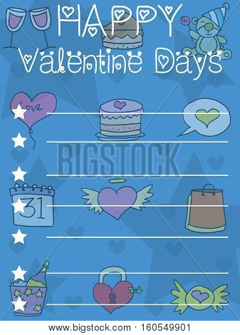 Vector illustration greeting card valentine collection stock