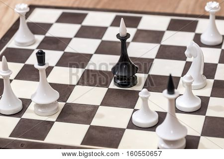 white and black Chess on board - chess game