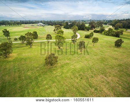 Aerial View Of Bicentennial Park, Melbourne, Australia.