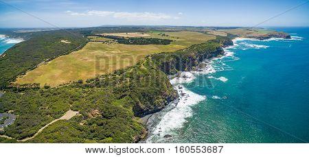 Aerial View Of Cape Schanck, Australia