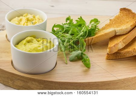 Dutch Curried Chicken Salad, Egg And Chive Salad And Toast