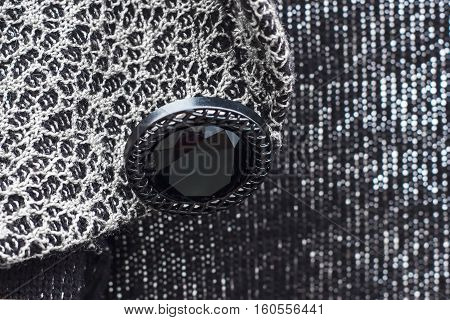 Button Sewn To The Garment, Beautiful Jacquard