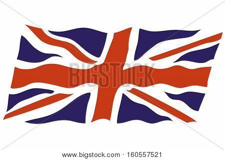 british flag english flag vector flag uk