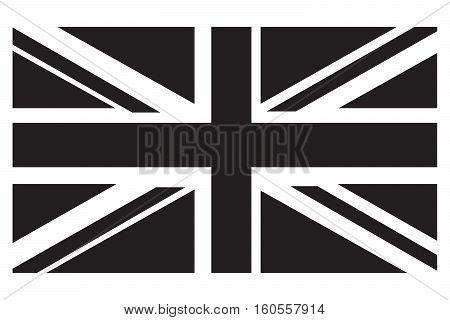 UK Flag grayscale british flag english flag vector flag uk