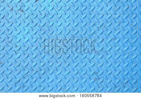 Blue steel floor for background and design