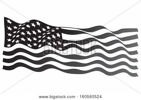USA Flag grayscale american flag flat usa national flag
