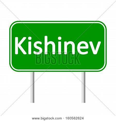 Kishinev road sign isolated on white background.