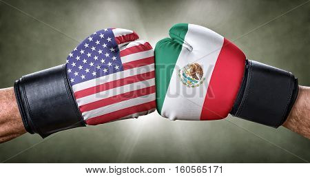 A Boxing Match Between The Usa And Mexico