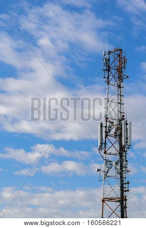 cellular repeter tower for 2g 3g and 4g transmision - GSM