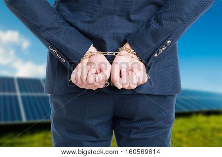 Illegal Or Corruption Concept With Hands In Chains