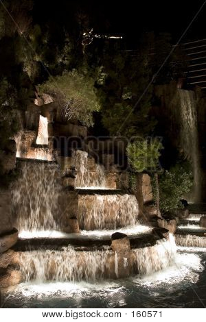 Night Waterfall