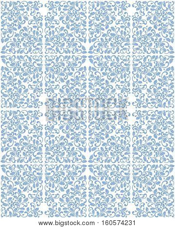 Seamless damask pattern with oak leaves. Rich ornament Vintage Damascus style. It can be used for printing on fabric wallpaper wrapping