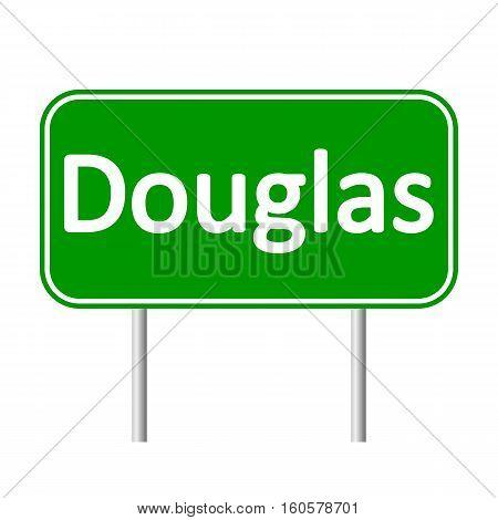 Douglas road sign isolated on white background.