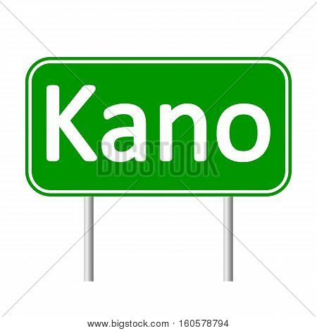 Kano road sign isolated on white background.