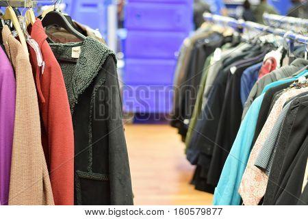 Racks Of Stylish Used Clothing