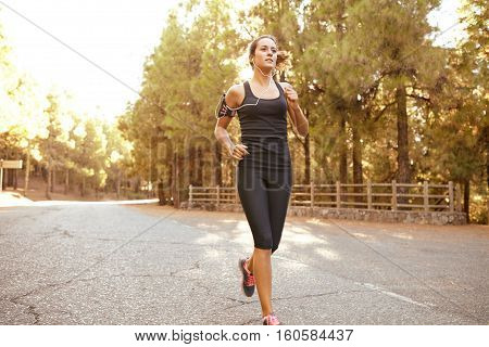 Healthy Sporty Young Brunette Female Jogger