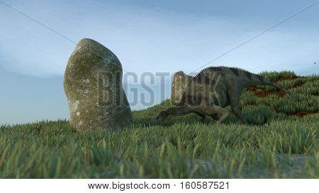 3d illustration of the Brachytrachelopan dinosdaurus