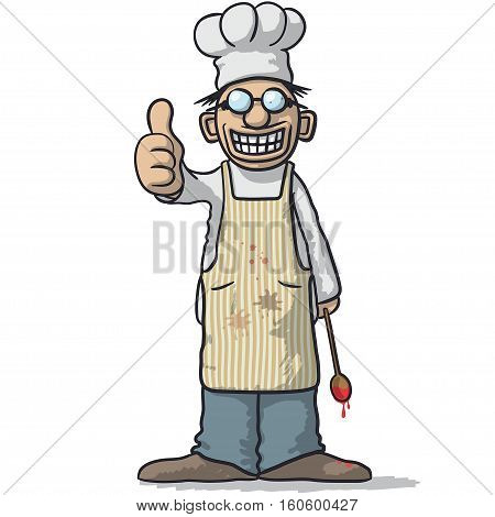 Smiling Chef With Thumb Up