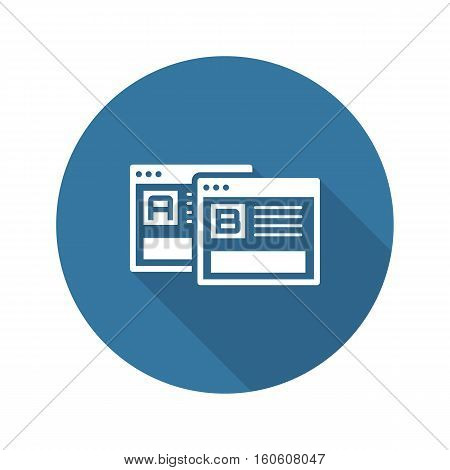 A-B Testing Icon. Business and Finance. Isolated Illustration. Two web pages to testing a b variations.