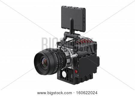 Camera video digital videography instrument. 3D rendering