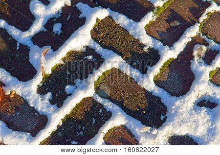 paving in the snow nature paving season