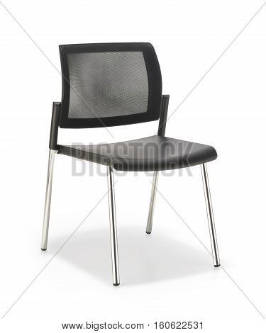 Black Office chair without armrests isolated on white background