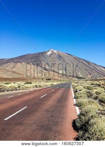 red valley of volcano Teide, Tenerife, Spain