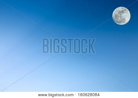Clear blue sky as a background wallpaper pastel sky wallpaper with super moon