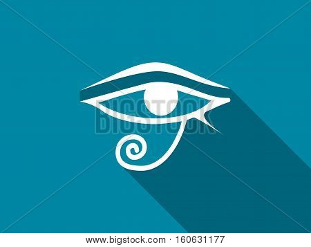 Eye Of Horus With A Long Shadow. Vector Illustration.
