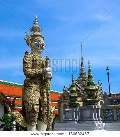 Guard Daemon - Royal Palace Bangkok at Thailand.