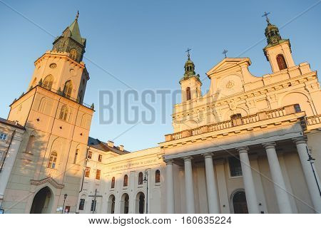 The Metropolitan Cathedral of St. John the Baptist and John the Evangelist in Lublin Poland.