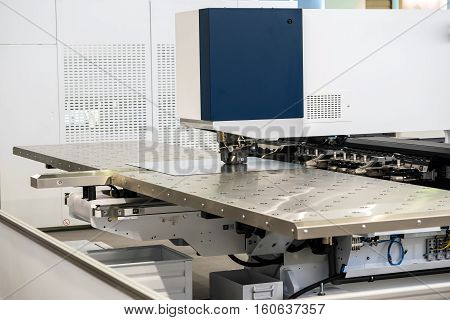 High-end machine for automatic punching metal sheet. Serie of metal processing machines