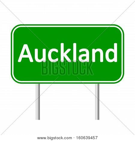 Auckland road sign isolated on white background.