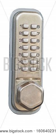 the intercom doorbell panel isolated on white