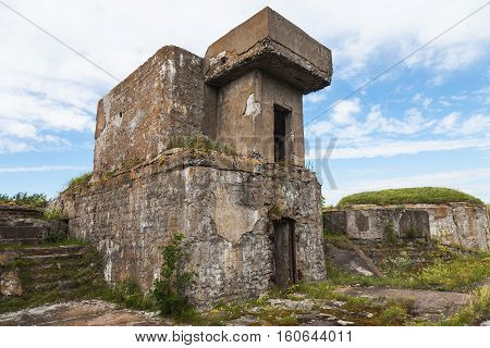 Facade Of An Old Concrete Bunker