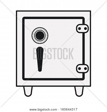 Strongbox icon. Money financial item commerce market and buy theme. Isolated design. Vector illustration