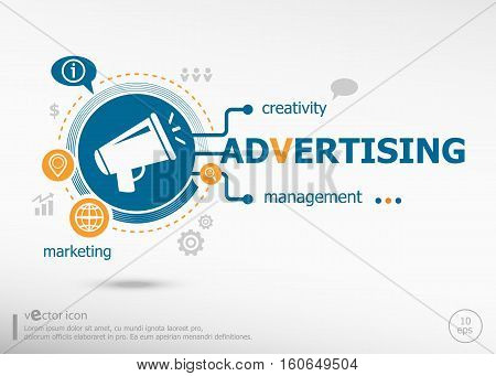 Advertising And Marketing Concept.