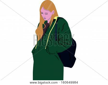 girl casual style clothes illustration urban teen youth