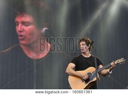 Stephan Jenkins of Third Eye Blind performs at the 2016 KAABOO Music Festival at Del Mar Racetrack + Fairgrounds on September 17, 2016 in Del Mar, California.