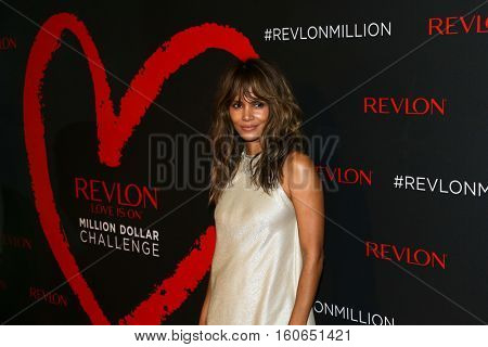 NEW YORK-DEC 01: Actress Halle Berry attends Revlon's 2nd Annual Love Is On Million Dollar Challenge Finale Party at The Glasshouses on December 1, 2016 in New York City.