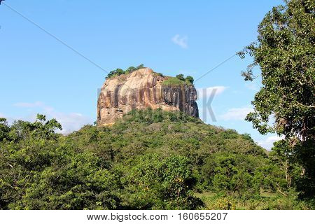 The Lion's Rock - A UNESCO site, also known as Sigiriya, located in Sri Lanka