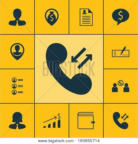 Set Of Management Icons On Manager, Business Deal And Female Application Topics. Editable Vector Illustration. Includes Application, Phone, Applicants And More Vector Icons.