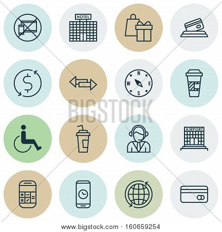 Set Of Transportation Icons On Credit Card, Crossroad And Airport Construction Topics. Editable Vector Illustration. Includes Card, Payment, Building And More Vector Icons.