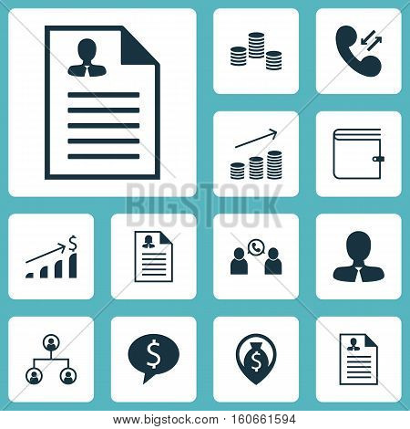 Set Of Human Resources Icons On Female Application, Phone Conference And Money Navigation Topics. Editable Vector Illustration. Includes Organisation, Application, Tree And More Vector Icons.