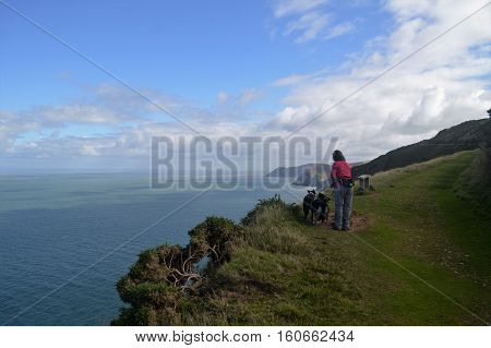 The Coast around Woody Bay Devon UK