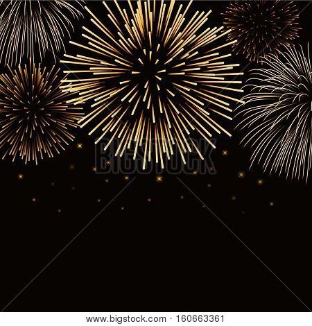 Firework Bursting Sparkle Background Gold